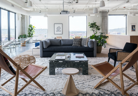 WeWork Ballard office with a view of the city, big windows and open space to collaborate.